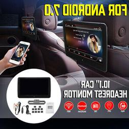 10.1'' For Android 7.0 Car Headrest Monitor Stereo Radio Vid