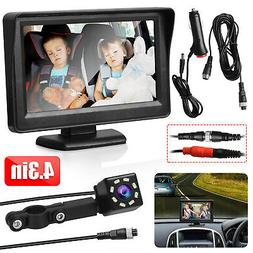 4.3In Car Baby Rear View Monitor HD Backup Seat Mirror Child