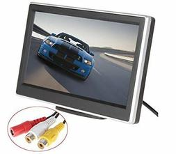 BW 5 Inch HD TFT LCD Car Monitor with Two Video Input, High