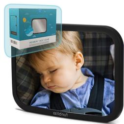 Baby Car Mirror for Back Seat Black - Safely Monitor Infant