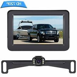 Backup Camera and Monitor Kit HD 720P Easy Installation for