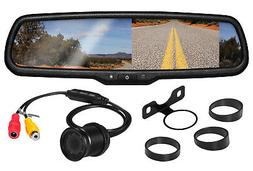 BOSS Audio BV430RVM Rearview Car Mirror With 4.3 Inch Built