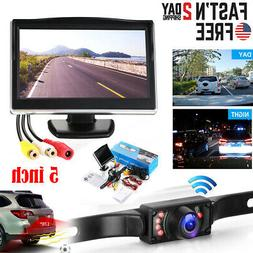 """Wired 5"""" Monitor Car Rear View System Backup Reverse Camera"""