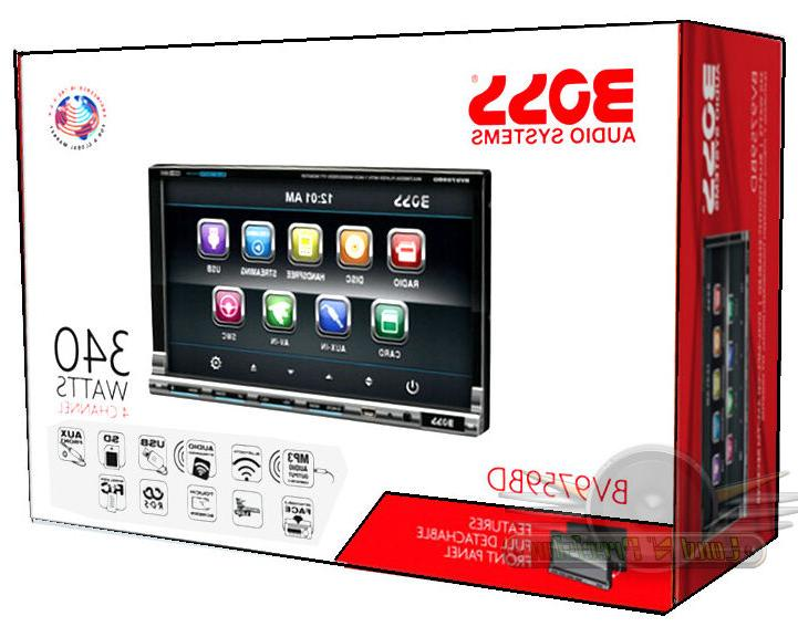 Boss Audio BV9759BD 7 inch Motorized DVD Player Receiver, Detachable Panel, Remote - 4 - MP4 WMA - AM, - - Bluetooth - Auxiliary In