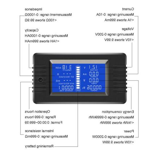LCD DC Battery Monitor Amp Cars Solar System Shunt