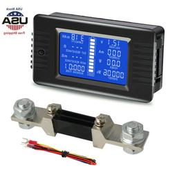 LCD Display Battery Monitor Meter Voltage Resistance Test To