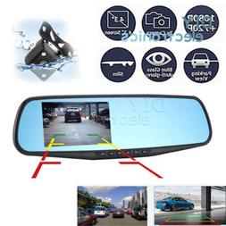 """Mini Car Reverse Parking Camera With 4.3"""" LCD Rear View Mirr"""