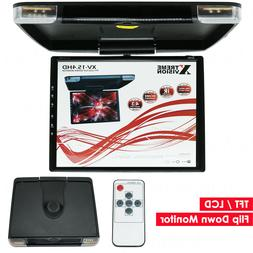 """NEW XtremeVsion 15.3"""" TFT LCD Car Vehicle Roof Mount Flip Do"""
