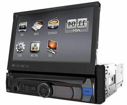 """POWER ACOUSTIK PDR-780B 7"""" IN-DASH CAR MONITOR STEREO RECEIV"""
