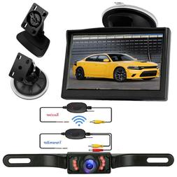 """Wireless 5"""" Monitor Car Rear View System Backup Reverse Came"""