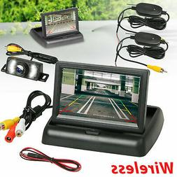 Wireless Car Backup Camera Rear View System Night Vision w/